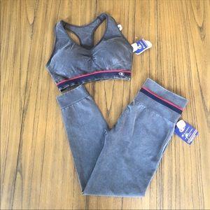 Champion sports leggings and sports bra set